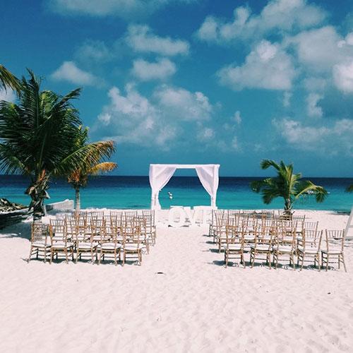 Bruiloft bij Delfins op Bonaire