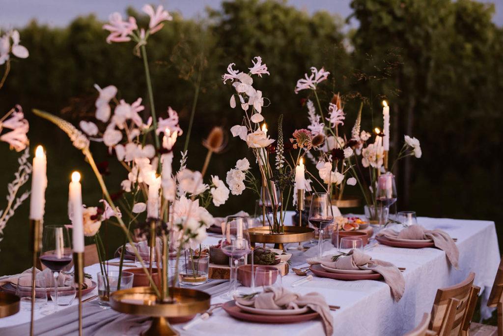 styled shoot gedekte tafel wijngaard