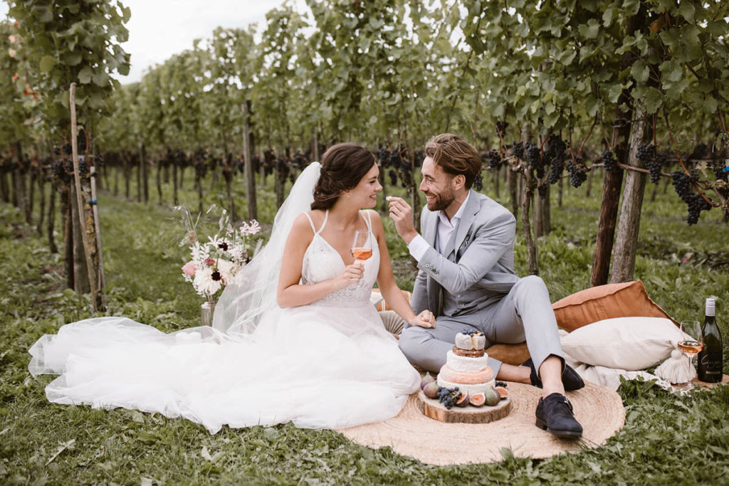 picknick setting styled shoot