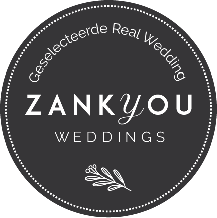 ZankYou weddings badge met link naar zankyou website