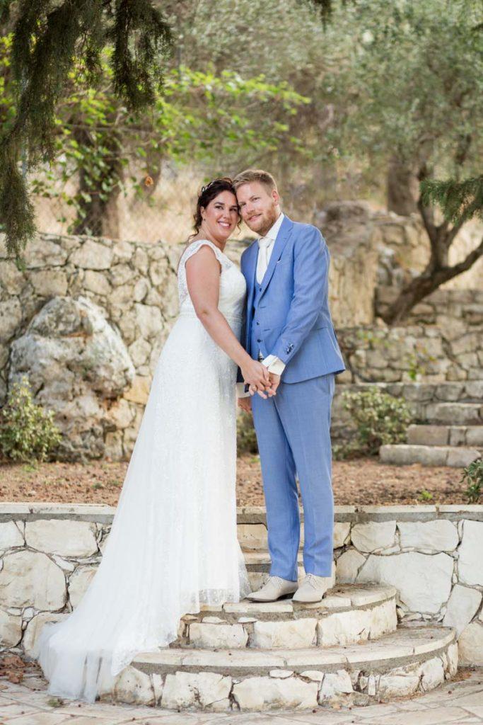 bruiloft griekenland shoot van bruidspaar