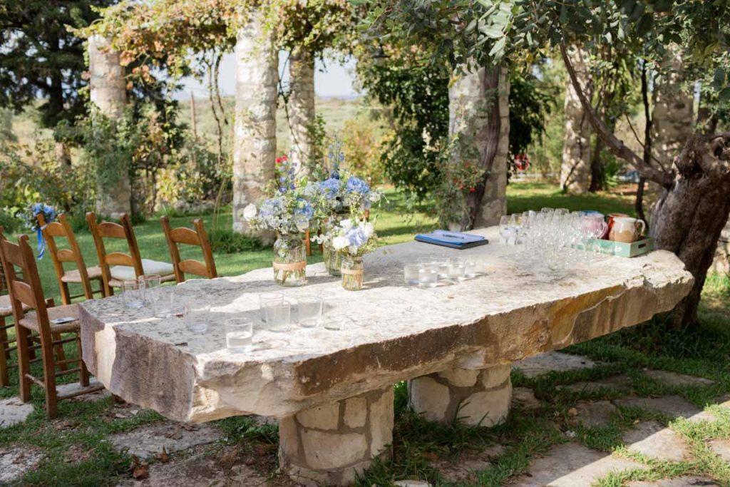 bruiloft griekenland ceremonie setting