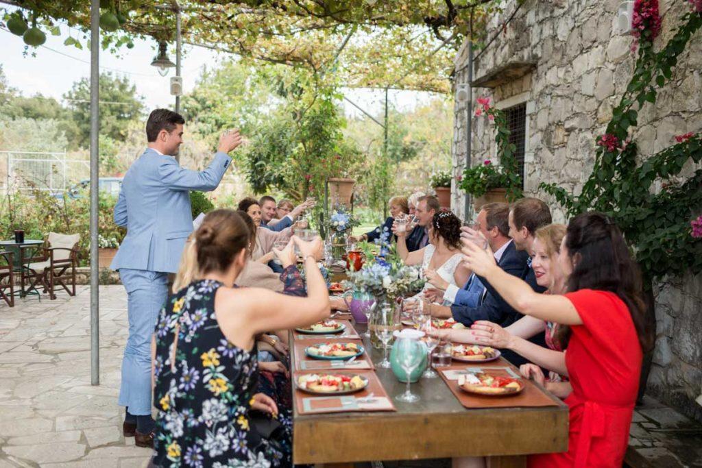 bruiloft griekenland speech