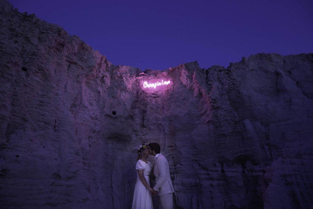 neonletters bruiloft in portugal
