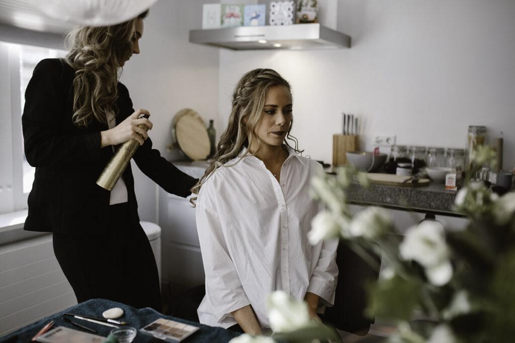 Portfolio Bruiloft D&M - Voorbereiding Haar
