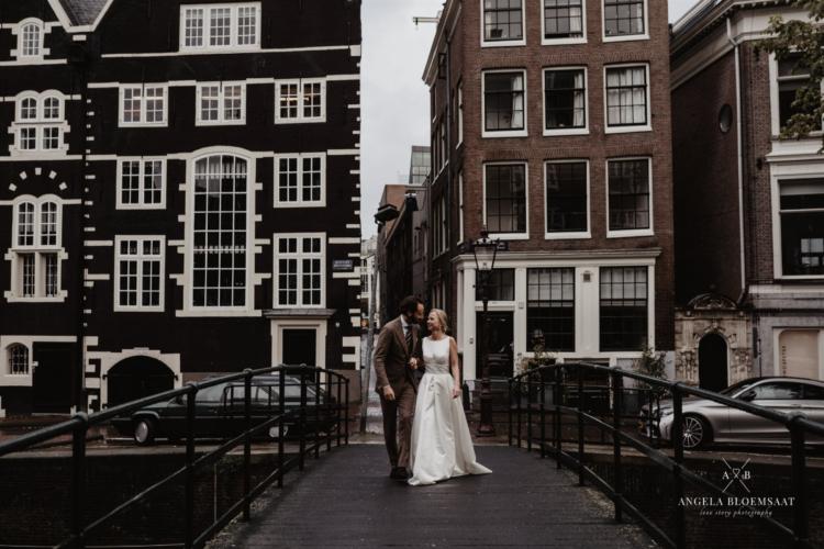brug amsterdam bruidspaar